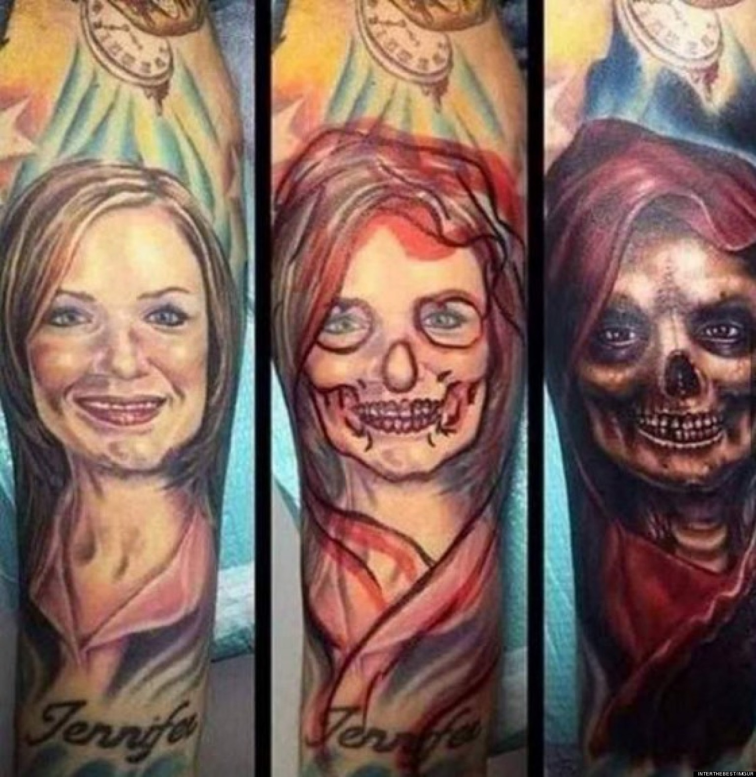 Tattoo Cover Up Replaces Ex-Girlfriend With A Scary Sight (PHOTO)