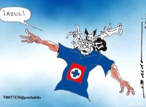 cruz azul caricatura
