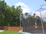 Trampoline Basketball Trick Shot