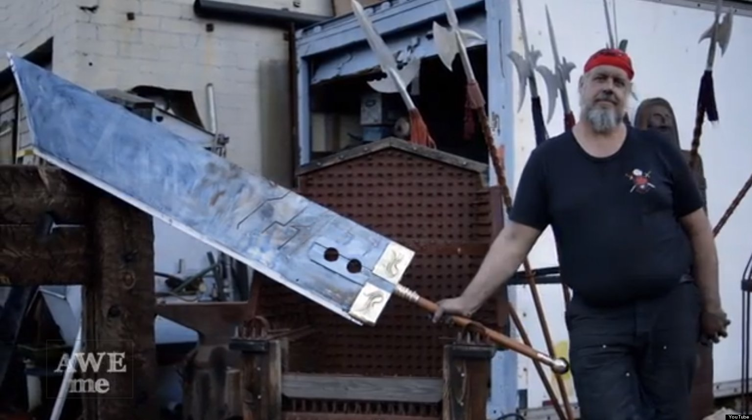 final fantasy vii buster sword made by blacksmith is
