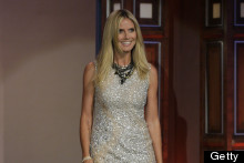 Sparkle! Heidi Klum Is glowing On The Tonight Show, Hula-Hoops In Sequin Mini Dress