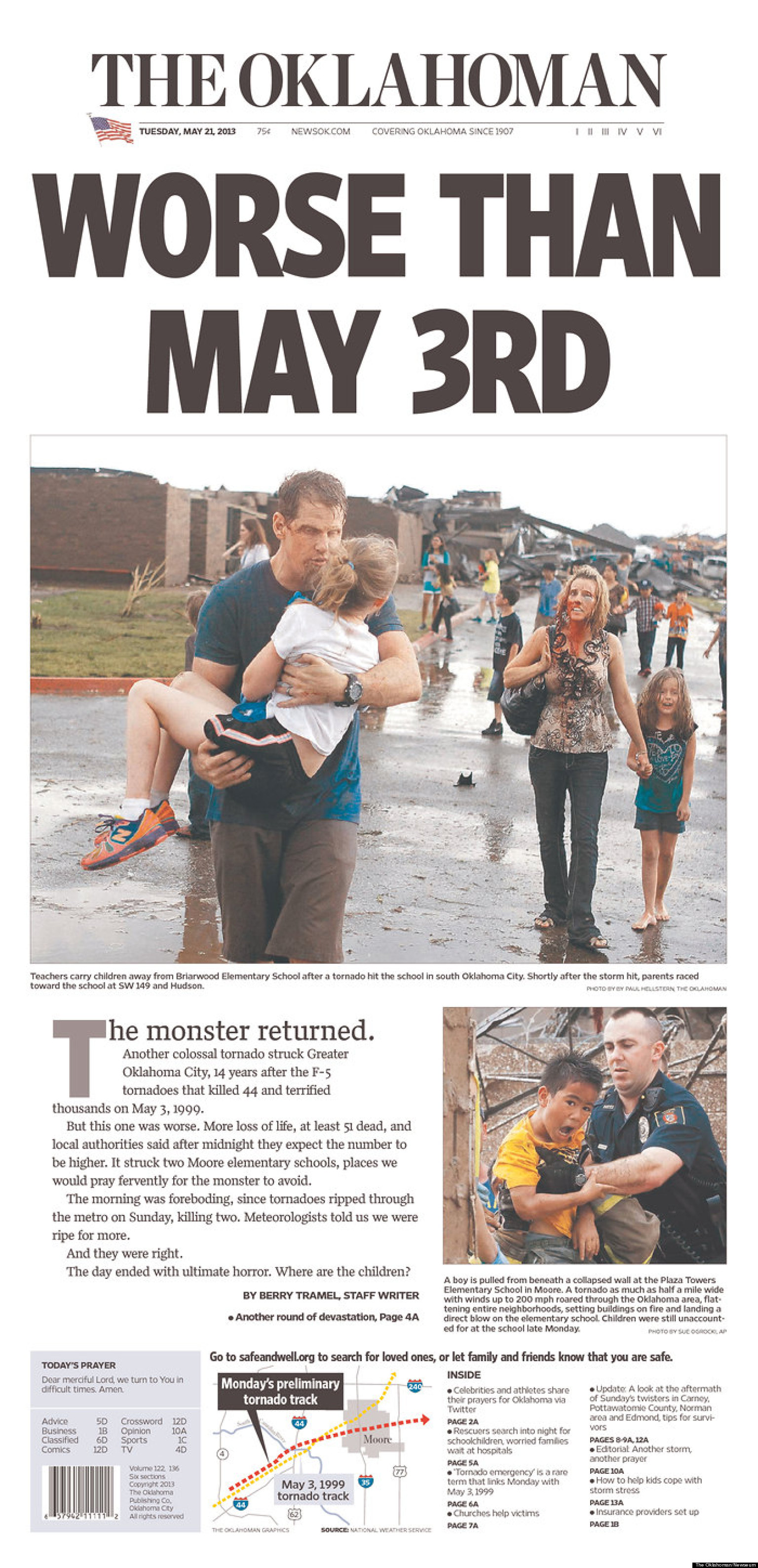 PHOTOS: How Newspapers Covered The Moore Tornado