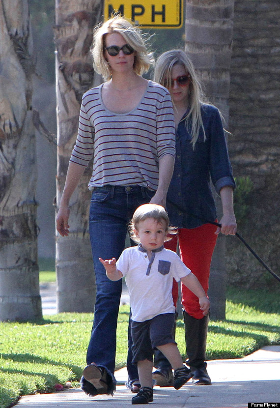 January Jones Talks Xander's Father: 'It's Not The Public ...