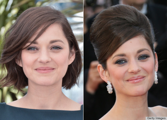 Hair Updos For Short Hair Pictures: Marion Cotillard's Beehive Hairstyle At Cannes: How Did