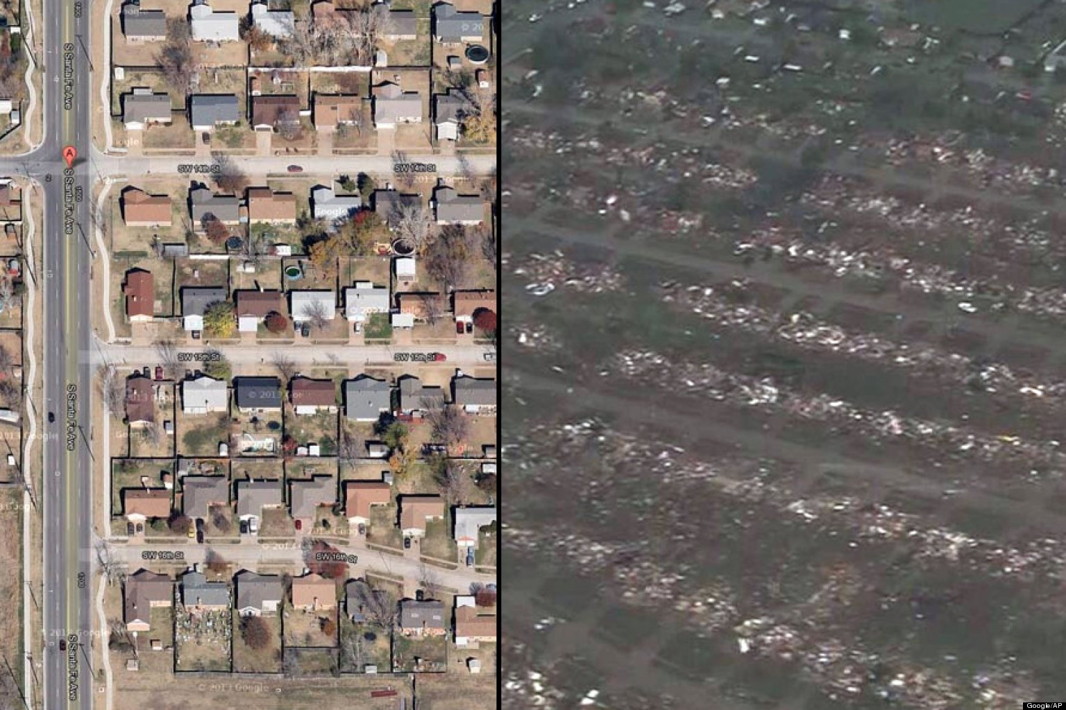 BEFORE/AFTER PHOTOS: Oklahoma Tornado Destruction
