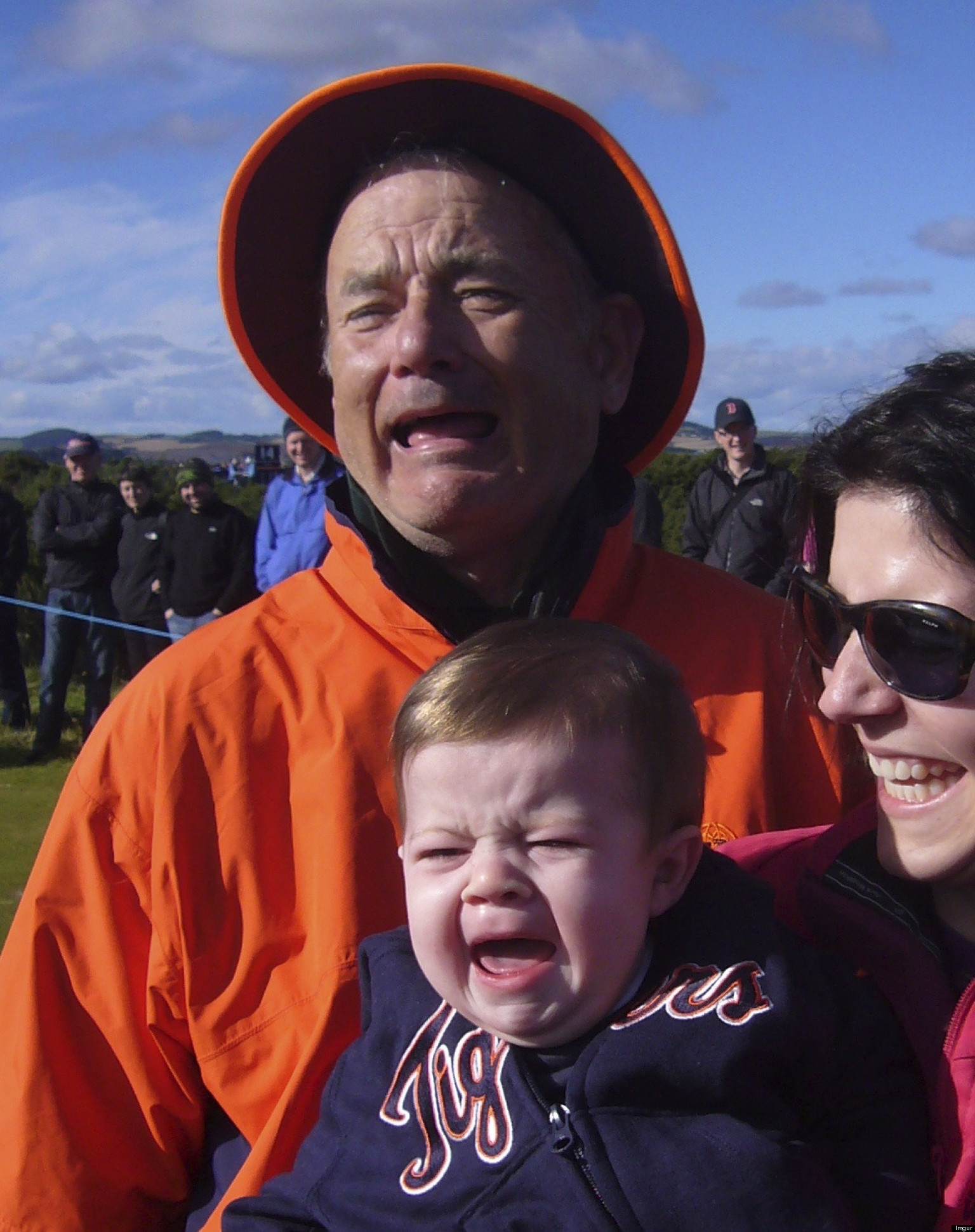 LOOK: Bill Murray Is Not Impressed By Baby Who Doesn't Like Him Either