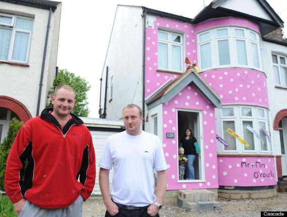 mr blobby pink house