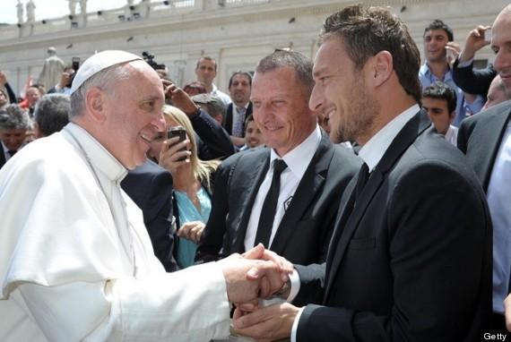 francesco totti pope francis