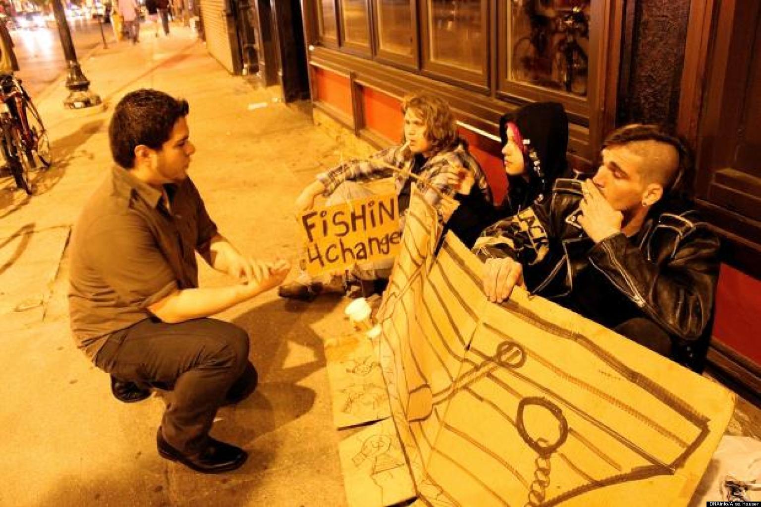 Traveling Gutter Punk Homeless Back In City Huffpost