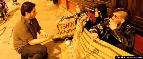 Traveling Gutter Punk Homeless Back In City