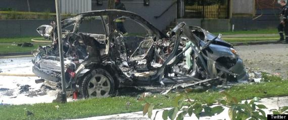 WEST END CAR EXPLOSION