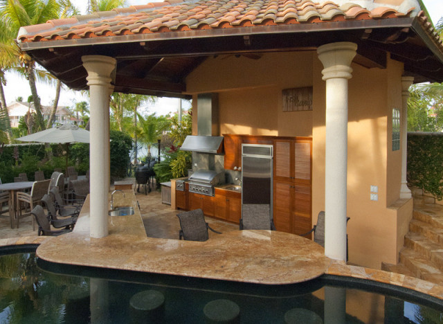 Pools luxury pools garden pools custom pools luxury backyards - These Amazing Outdoor Kitchens Make Eating Inside