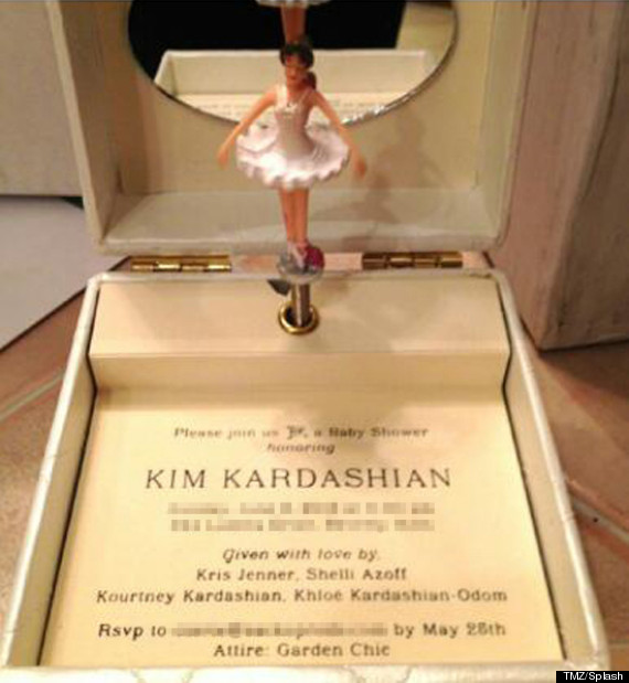 kim kardashian baby shower invite