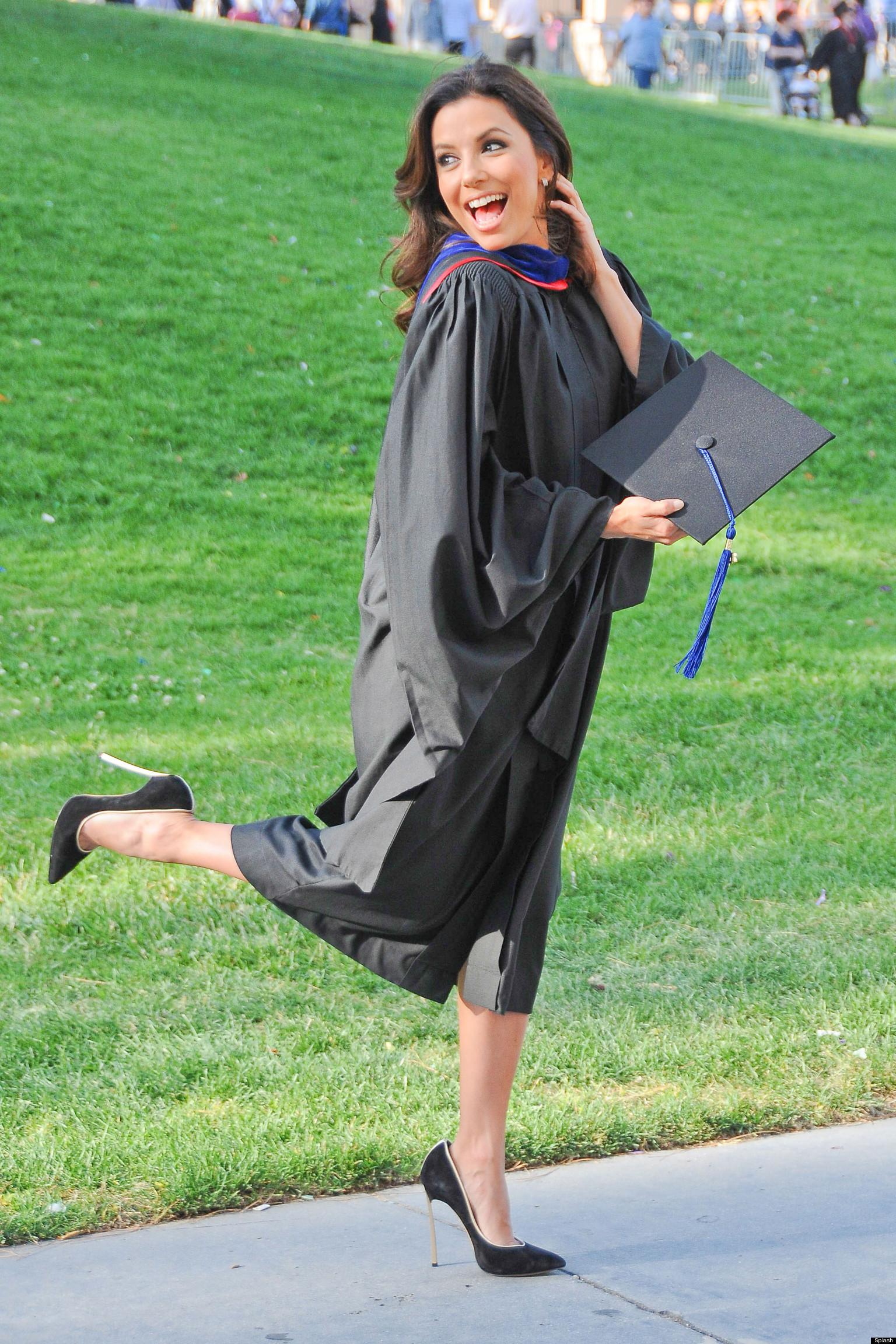 La Tech University >> Eva Longoria Graduates As She Picks Up Masters Degree From California State University (PICTURES ...
