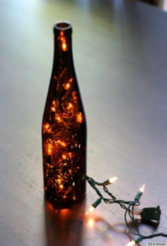 7 diy lighting fixtures that you won 39 t even believe you for How to make wine bottle lights
