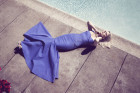 January Jones Does Pool-Side Glamour For Net-A-Porter