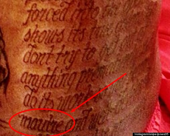 kevin durant back tattoo misspelling