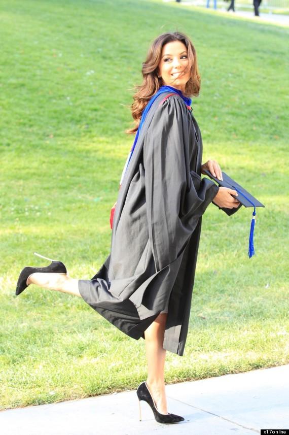 eva longoria graduates