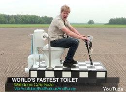 El inodoro más rápido del mundo... para ir en carretera