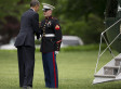 Obama Forgets To Salute Marine, Awkwardly Makes It Up To Him