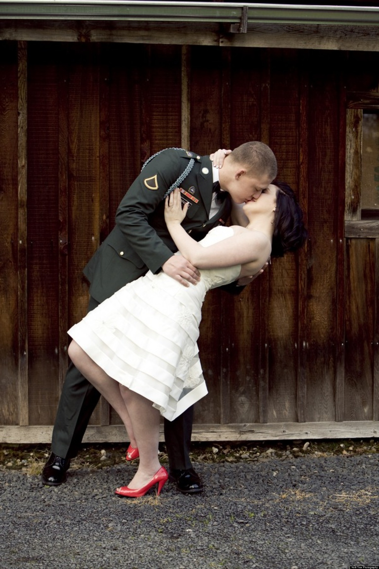 memorial day wedding inspiration from military couples