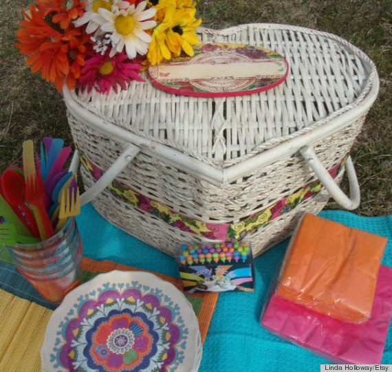 picnic baskets etsy