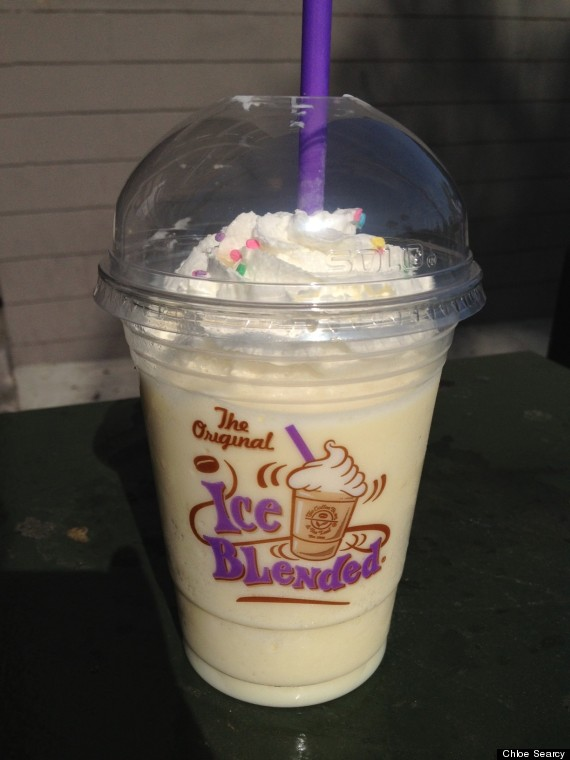 coffee bean birthday cake ice blended