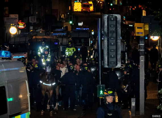 bristol riot police help for heroes march