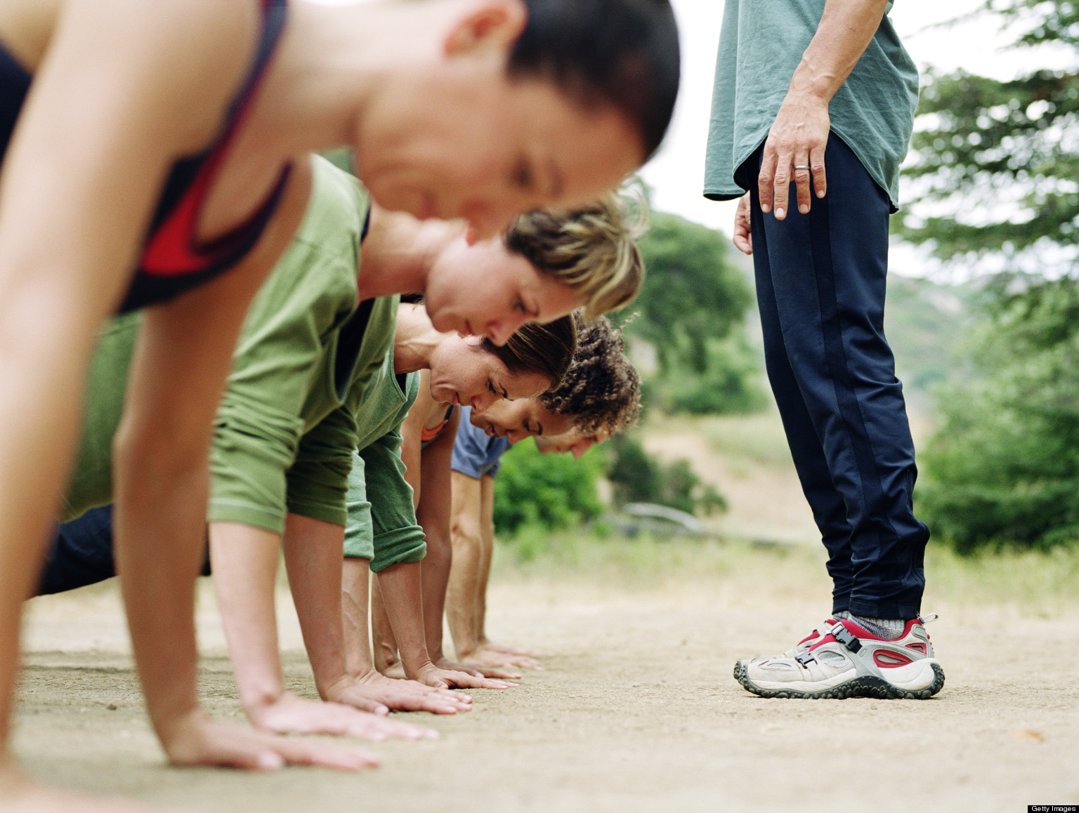 Full Body Boot Camp Workout Group Outdoor