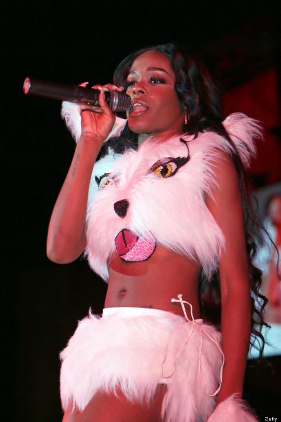 azealia banks cat suit