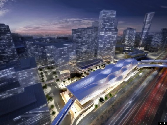 zaha hadid metro station