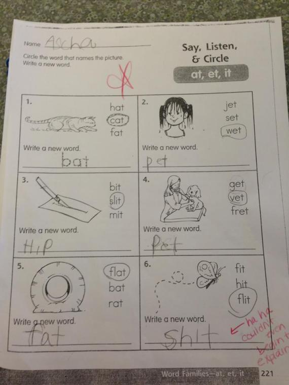 School homework for kids
