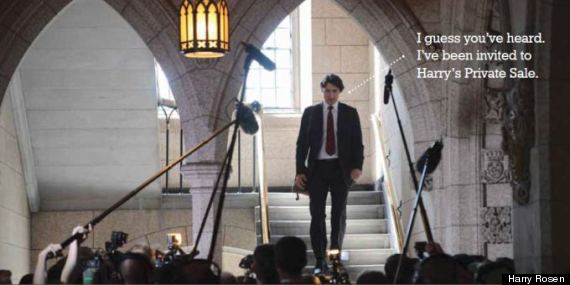 trudeau harry rosen ad