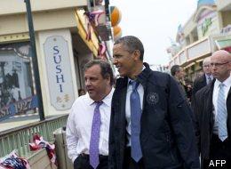 Barack Obama au New Jersey sept mois après la mégatempête Sandy