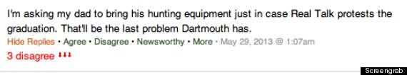 dartmouth threat