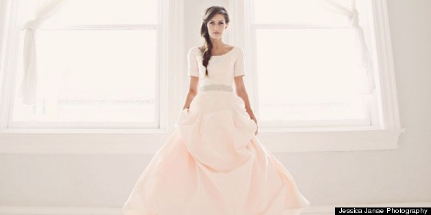Pink Wedding Dresses: 10 Gorgeous Non-White Gowns (PHOTOS