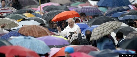 POPE FRANCIS RAIN
