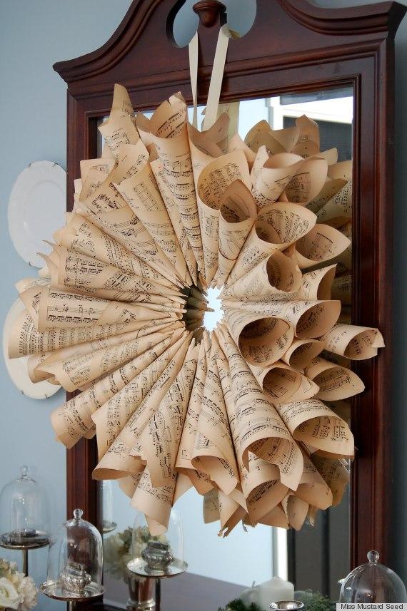 sheet music crafts