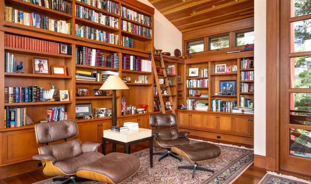 a gorgeous home library would turn anyone into a bookworm