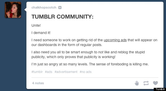 tumblr ads dashboard
