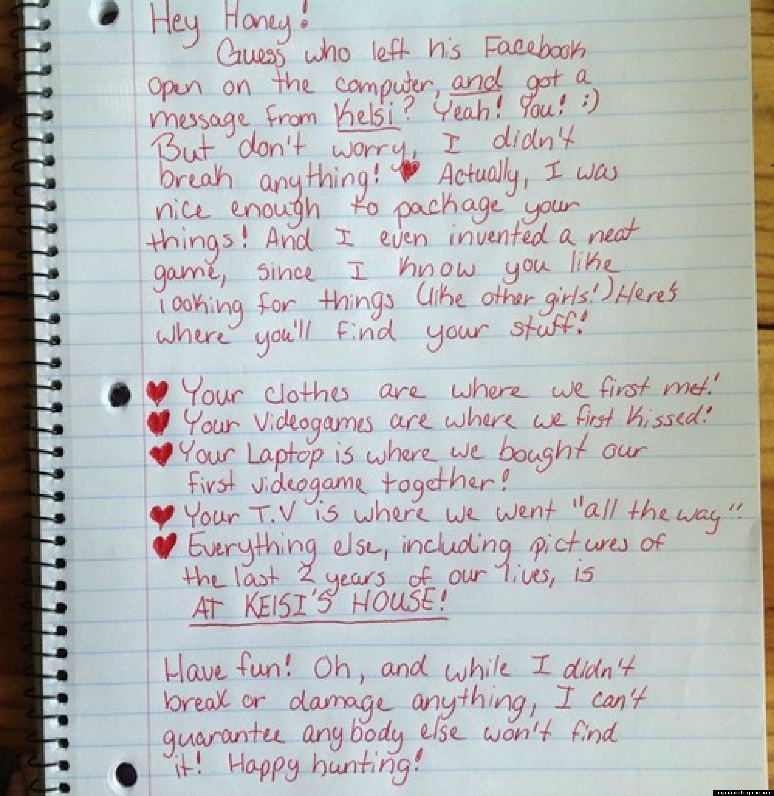 Funny breakup: this might be the best breakup letter ever (photo)