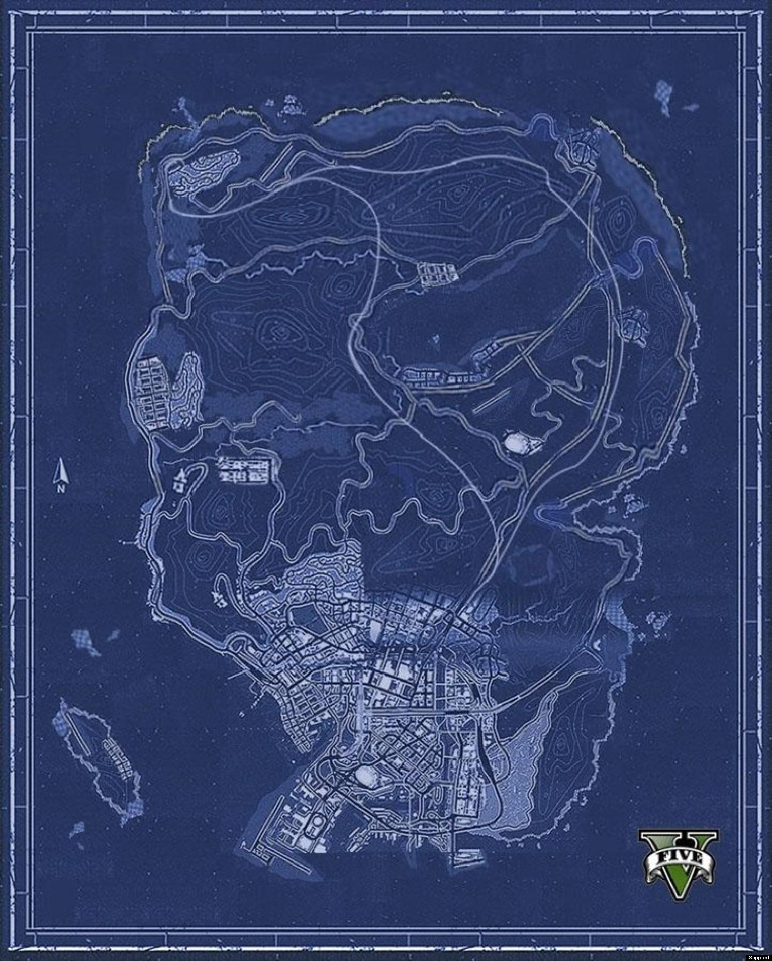 Secret Places Gta 5 Ps4: GTA 5 Fan's Project Reveals Full Los Santos Map