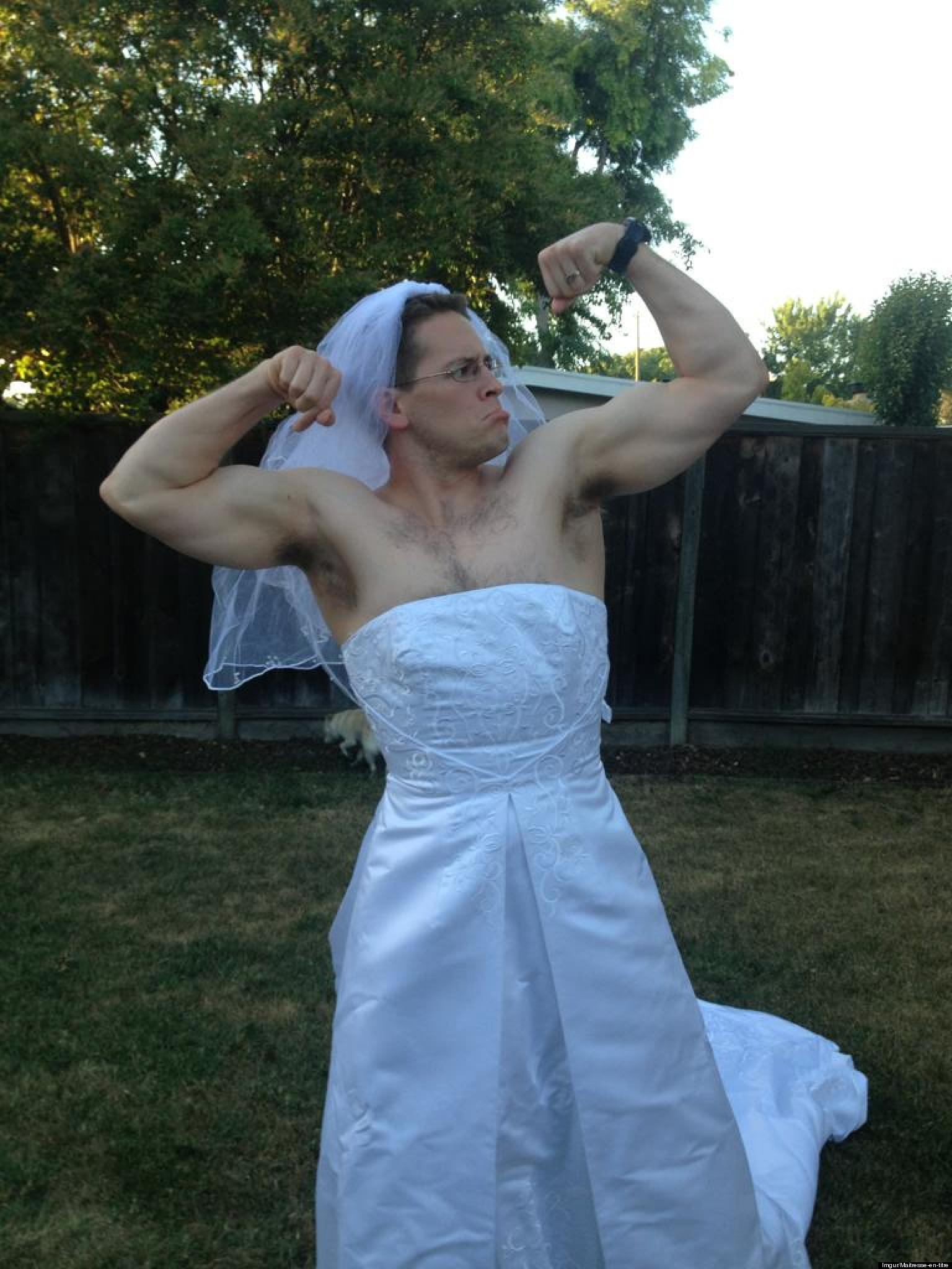 Funny Divorce Why This Man Is Wearing A Wedding Dress