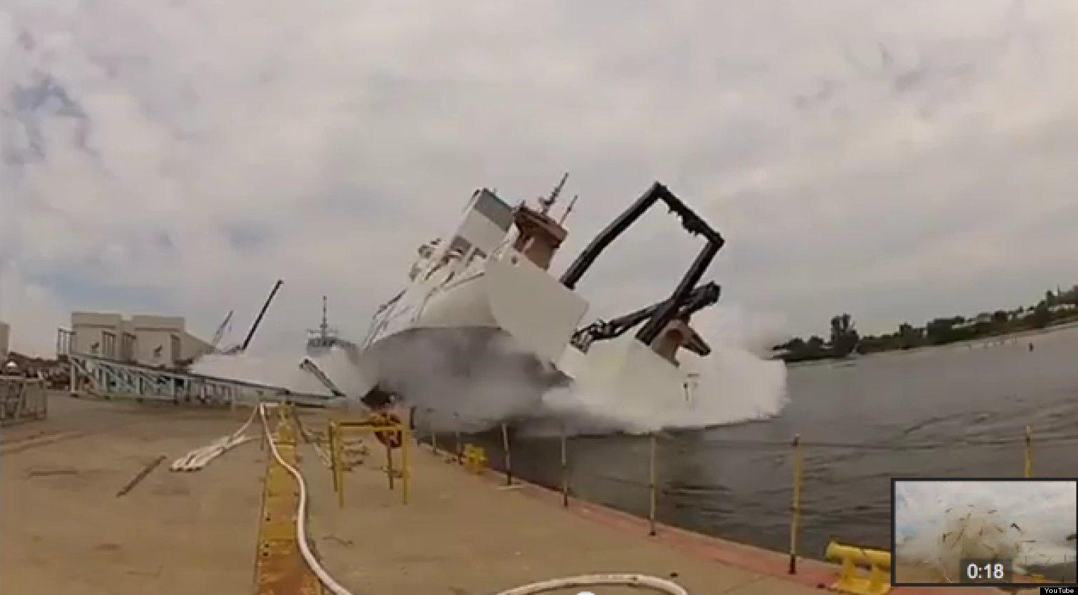 Noaa Ship Launch Fail Newly Christened Reuben Lasker