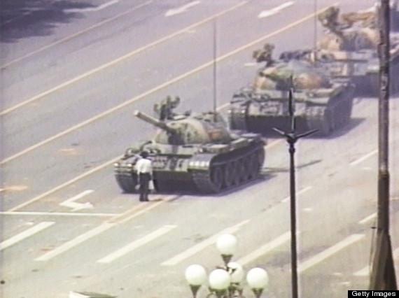 tiananman square tanks