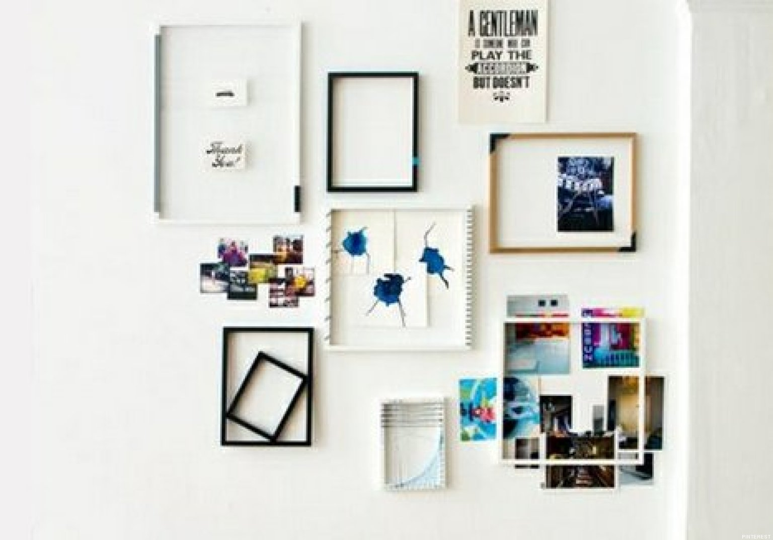 Decorar con cuadros 33 ideas para enmarcar fotos - Como poner fotos en la pared ...