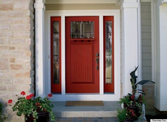 Front Door Colors For Brown House Enchanting With Red Front Door Colors Pictures