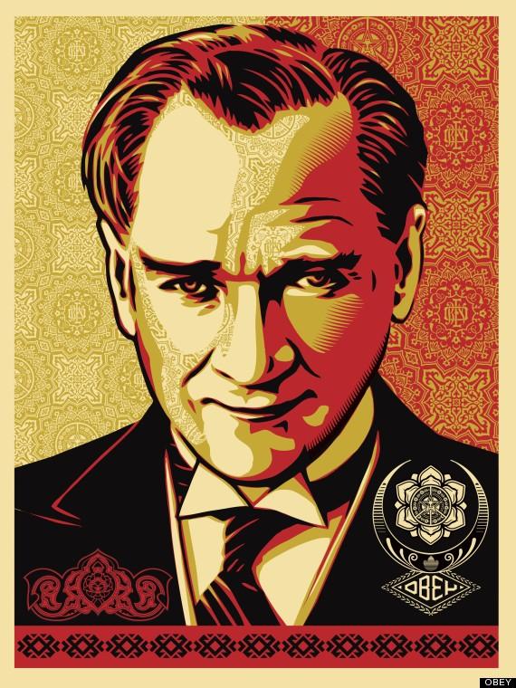 Shepard Fairey\'s Ataturk Portrait: Artist Offers Free Download Of ...