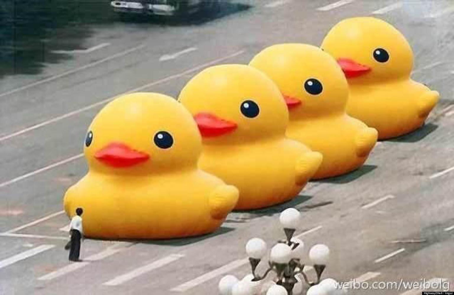 Rubber Duck Tiananmen Square  Duck