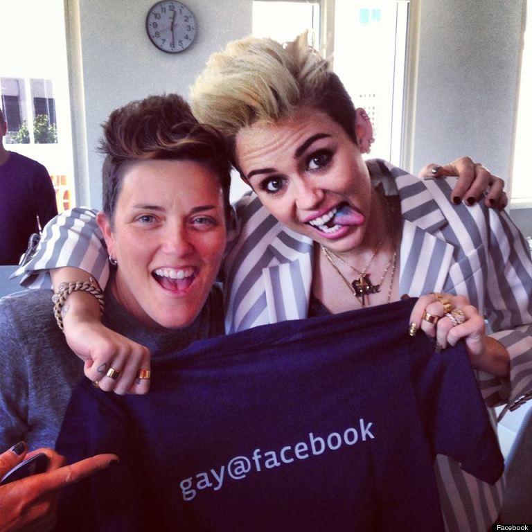 miley cyrus gay pride facebook